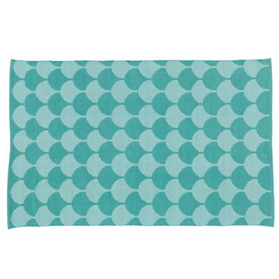 5 x 8' Half Shell Rug (Turquoise)