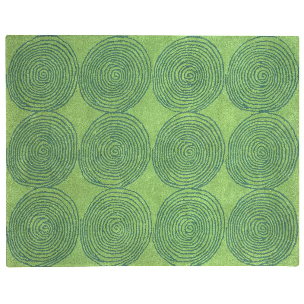 Green Honey Bun Rug Swatch
