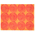 4 x 5' Orange Honey Bun Rug