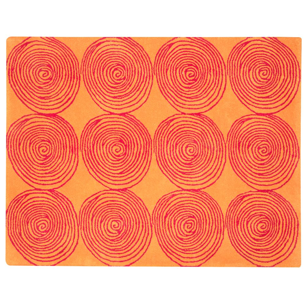 5 x 7&#39; Honey Bun Rug (Orange)
