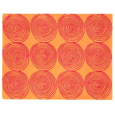 Orange Honey Bun Rug Swatch