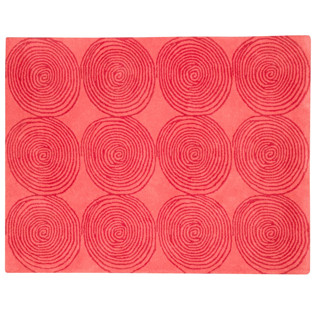 4 x 5&#39; Pink Honey Bun Rug (Pink)
