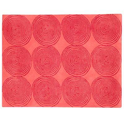4 x 5' Pink Honey Bun Rug (Pink)