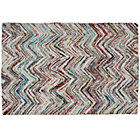 4 x 6&amp;#39; Color Static Recycled Rug