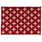 5 x 8' Red Indoor Outdoor Rug