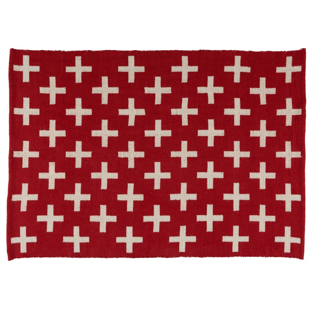 4 x 6' Indoor + Outdoor Rug  (Red)