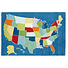 5 x 8' Multi Coast to Coast USA Rug