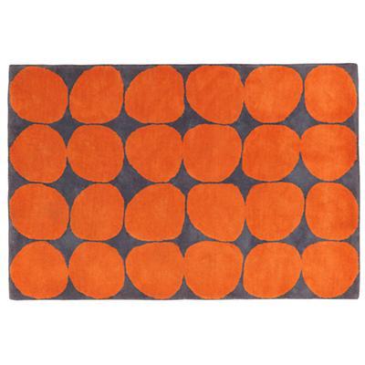 Ink Spot Rug (Orange)