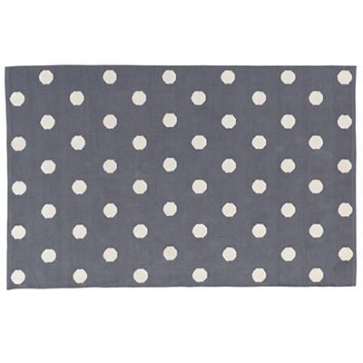 4 x 6' Lotsa Polka Dots Rug (Grey)