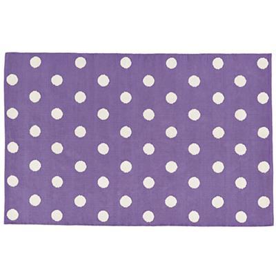 8 x 10'  Lotsa Polka Dots Rug (Purple)