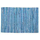 5 x 8' Blue Cotton Rug