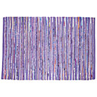 4 x 6&amp;#39; Purple Cotton Rug