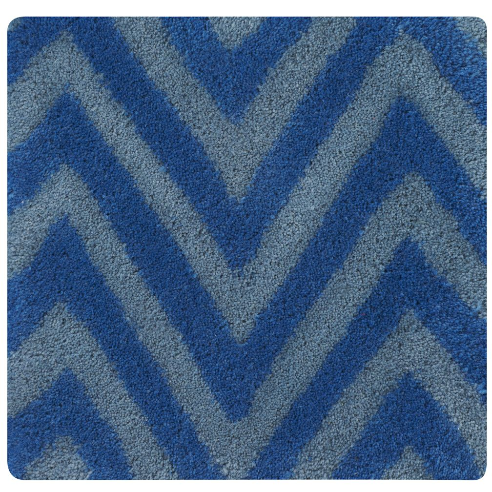 Blue Zig Zag Rug Swatch