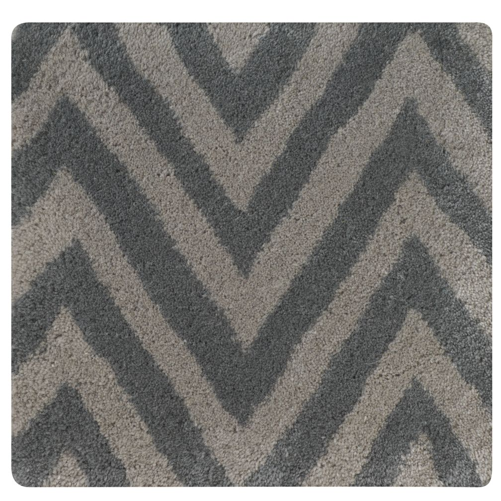 Grey Zig Zag Rug Swatch
