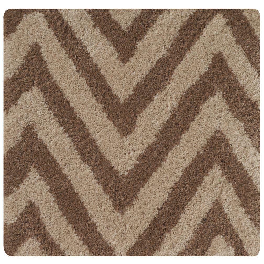 Khaki Zig Zag Rug Swatch