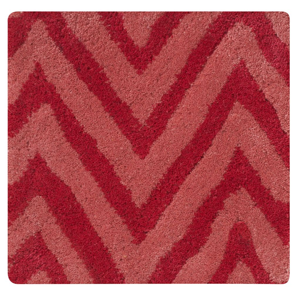 Pink Zig Zag Rug Swatch