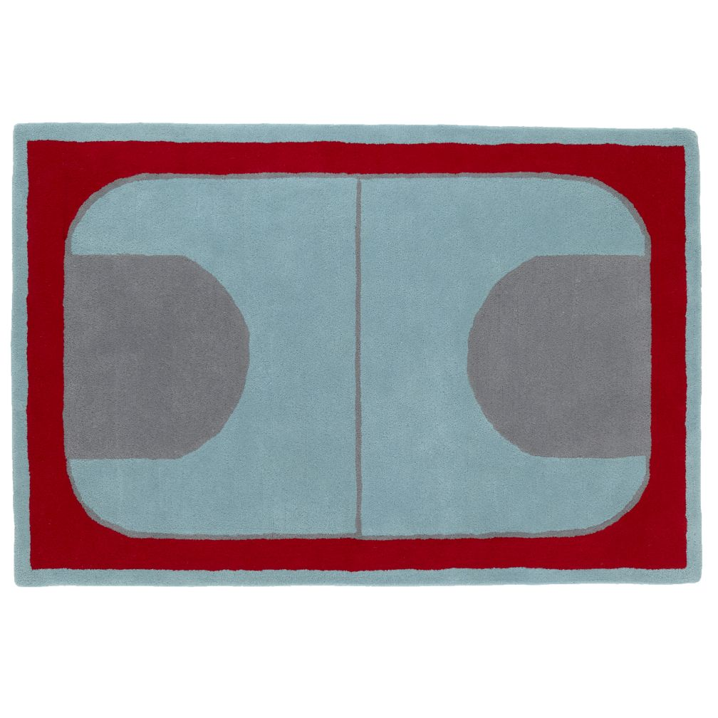 5 x 8&#39; Game On Rug (Red)