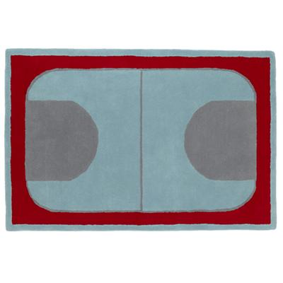 5 x 8' Game On Rug (Red)