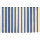 4 x 6&amp;#39; Blue Big Band Stripe Rug