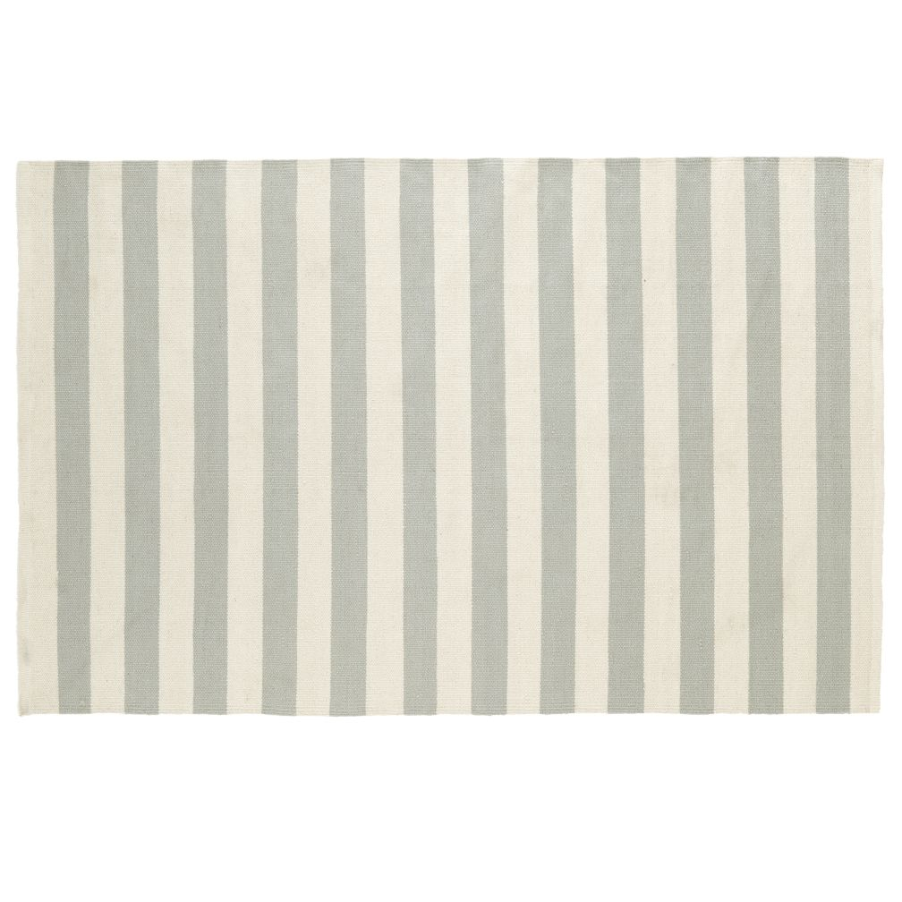 5 x 8' Grey Big Band Stripe Rug<br />