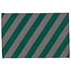 4 x 6' Green Stripe Tailored Rug