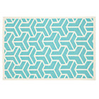 4 x 6&amp;#39; Aqua Crow&amp;#39;s Feet Woven Dhurrie Rug