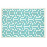 Crow&#39;s Feet Rug (Aqua)