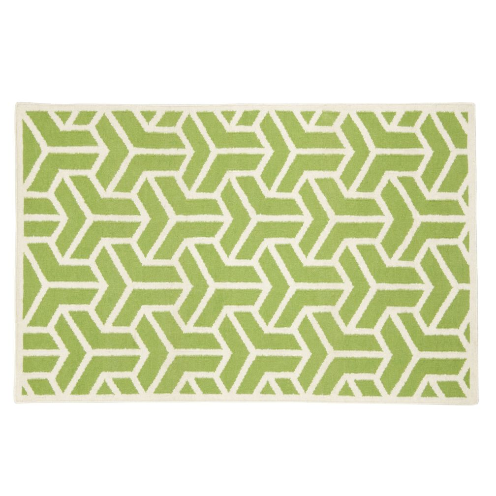 5 x 8' Crow's Feet Rug (Lt. Green)