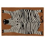 5 x 8' Don't Feed the Rug (Zebra)