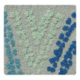 Evergreen and Blue Rug Swatch