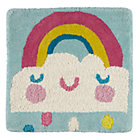 Rainbow Cloud Rug Swatch