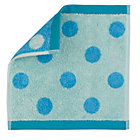 Blue Organic Dot Wash Cloth
