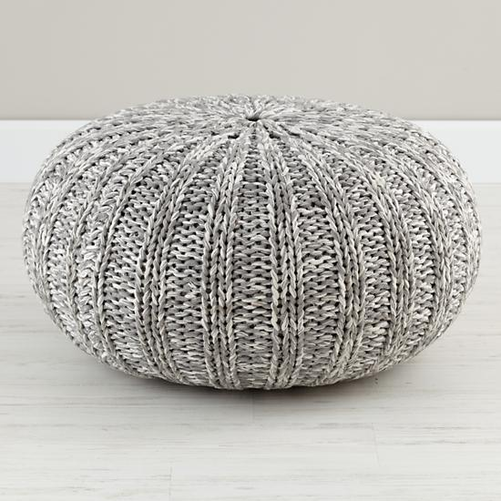 Kids Seating Grey Variegated Pouf Seater The Land Of Nod
