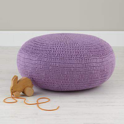 Pull Up a Pouf (Lavender Crocheted)