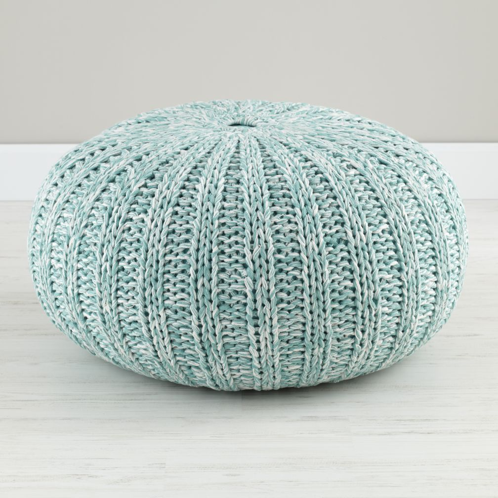 Varigated Aqua Pouf