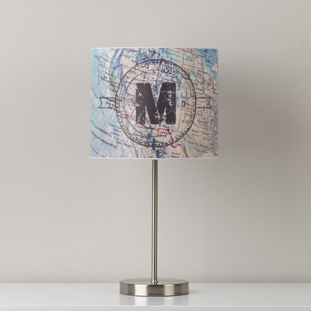 Initial Here Personalized Table Shade (Map)