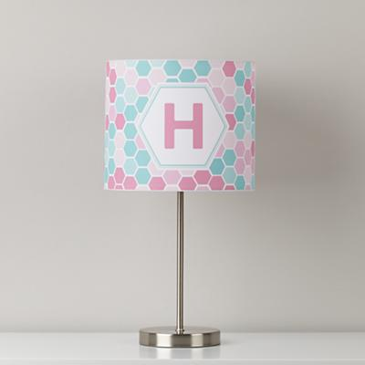 Personalized Table Shade (Pink Honeycomb)