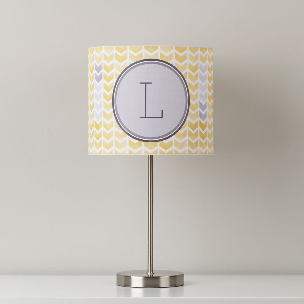 Personalized Table Shade (Yellow Arrow)