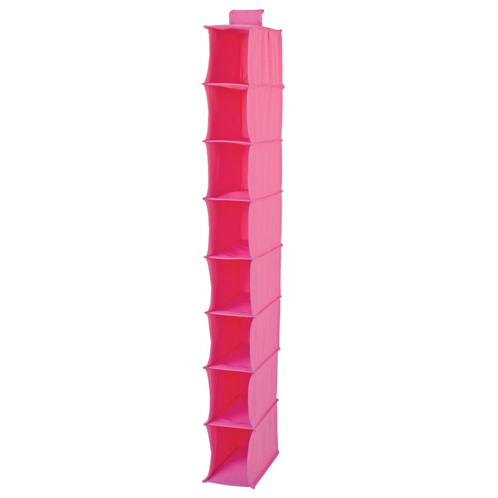 I Think I Canvas Narrow Hanging Organizer (Pink)