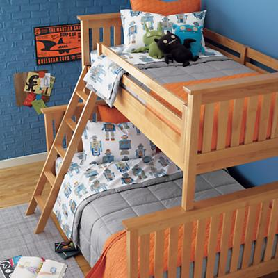 Simple Twin-Over-Full Bunk Bed (Natural)