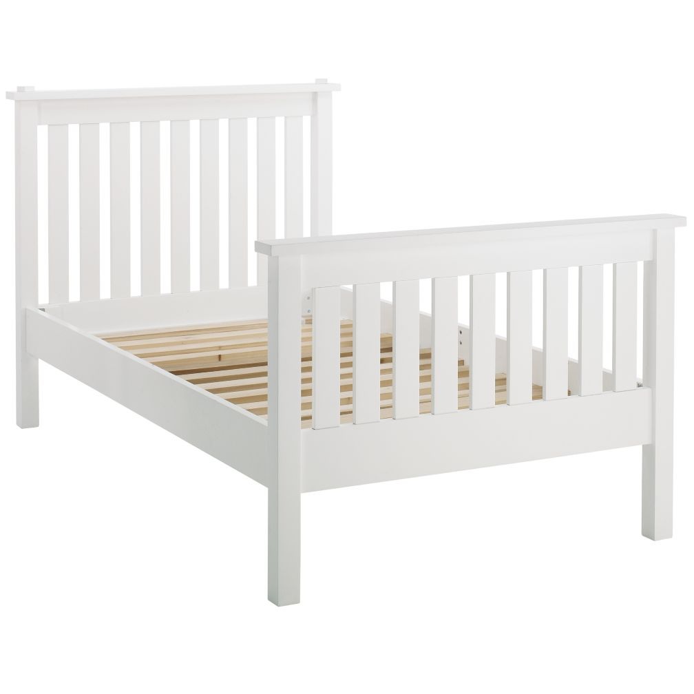 Simple Twin Bed (White)