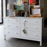 Simple 6-Drawer Dresser (White)