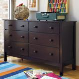 Simple 6-Drawer Dresser (Espresso)