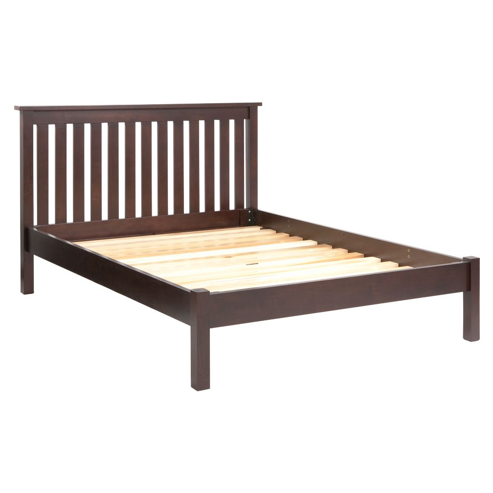 Simple Espresso Full Bed (Headboard w/Wood Frame)