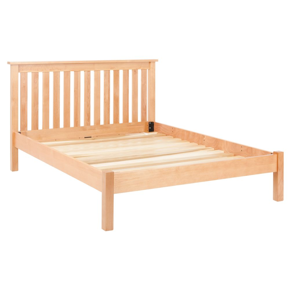 Simple Natural Full Bed (Headboard w/Wood Frame)