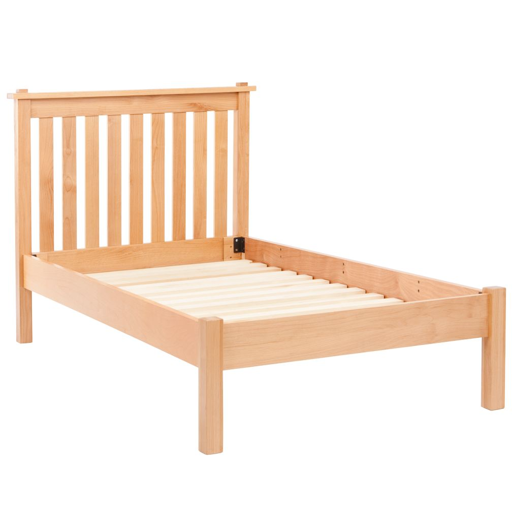Simple Natural Twin Bed (Headboard w/Wood Frame)