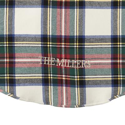 Personalized Tartan Plaid Tree Skirt