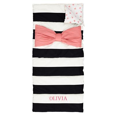 Personalized Candy Bow Sleeping Bag and Pillow Case