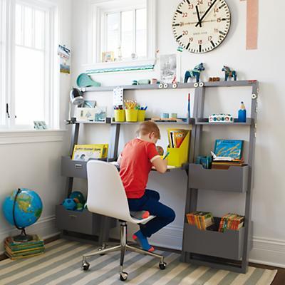 Little Sloane Leaning Bookcase (Grey)