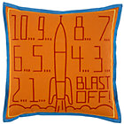Blast Off Throw Pillow(Includes Cover and Insert)